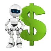10042472 funny white robot stay with green dollar Советники Форекс